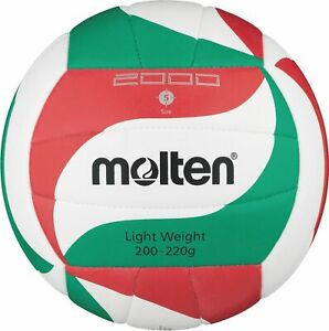 Molten volley trainingsball blanc/vert/rouge v5m2000-l taille 5