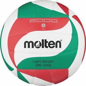 Molten-Volleyball-Trainingsball-Synthetik-Leder-Weiss-Gruen-Rot-V5M2000-L-Gr-5