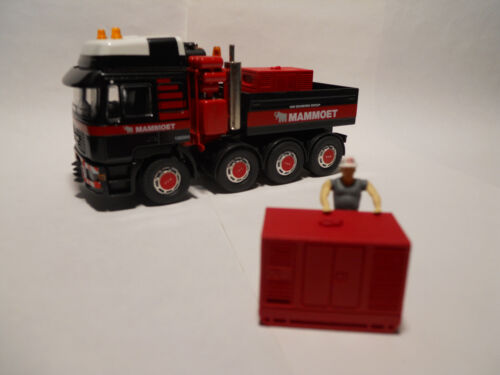 GRUE 1//50 GROUPE ELECTROGENE ROUGE RESINE TEINTEE ROUGE ACCESSOIRE CAMION