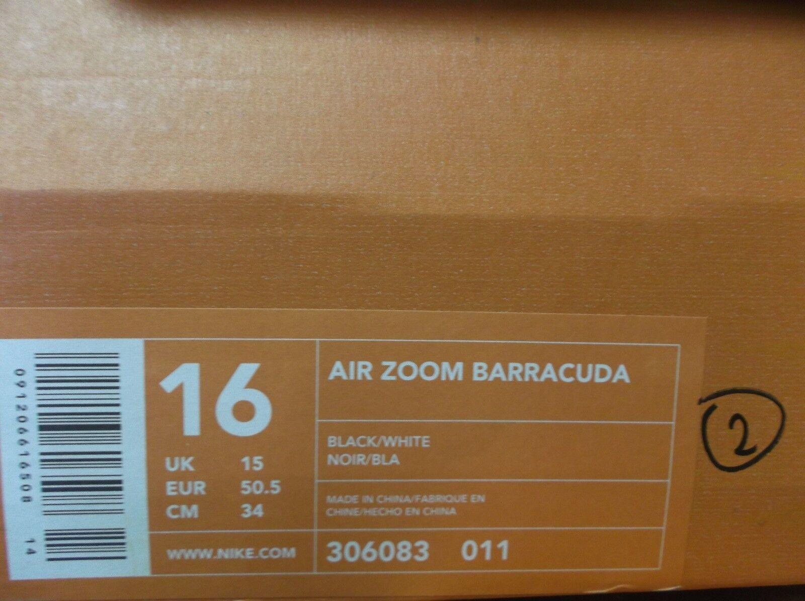 New Nike Air Zoom Barracuda Black football low cut cut cut cleats Mens 16 lacrosse 7e70a4