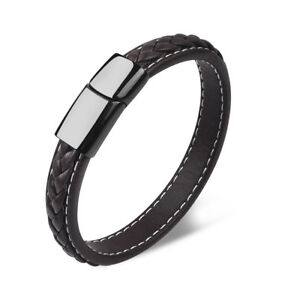Brown-Bangle-Jewelry-Simple-Leather-Braided-Bracelet-For-Male-Accessories-Gifts