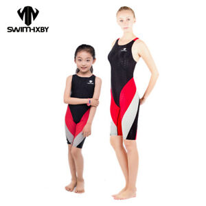 f3aac378963 Image is loading Women-Training-Swimsuit-Girl-Swimsuits-Sharkskin-Racing- Competition-