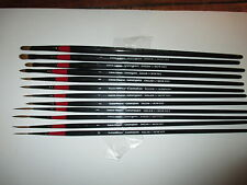 DALER ROWNEY SABLE BRUSHES JOB LOT (12)