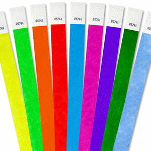 1-000-3-4-Tyvek-Wristbands-Choose-Your-Color-Bars-Events-Clubs-Security-ArmBands