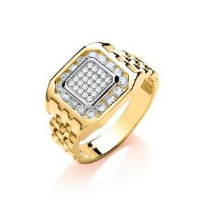 homme bague or