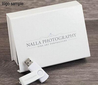 DIY LOGO custom white business rotate usb 2.0 memory stick pen drive party gift
