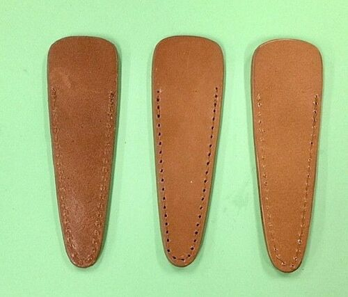 "3X Genuine Leather Scissors Sheaths ""Large"" Size 100x3215mm 4"""