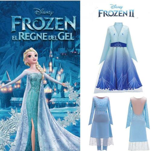 DE Frozen Eiskönigin Prinzessin Elsa Anna Kostüm Kleid Mädchen Karneval Geschenk