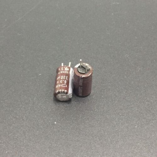 10pcs 330uF 6.3V NCC Nippon KZE Low ESR 6.3X11 6.3V330UF Motherboard Capacitor