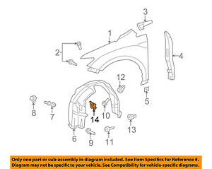 toyota oem fender liner splash shield push clip retainer blind rivet Fender Stratocaster Schematic Diagram image is loading toyota oem fender liner splash shield push clip