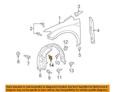 09-16 TOYOTA VENZA SET OF 5 FENDER SPLASH SHIELD LINER CLIP BRAND NEW 07166