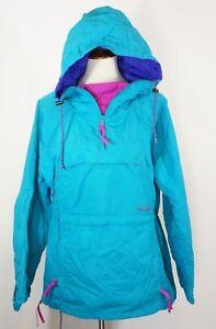 Womens Large Neon Blue Pullover Vtg Columbia 90s Anorak Euc Jacket gUSqqB