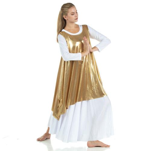 Danzcue Womens Celebration of Spirit Dance Drapey Tunic Tank Pullover