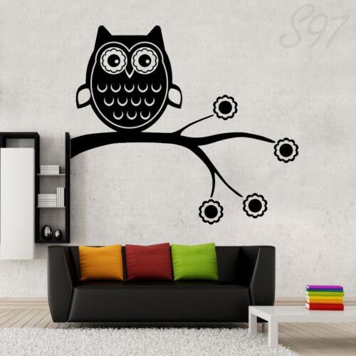 Owl On The Tree Wall Art Bedroom Living Room Decal Vinyl Sticker