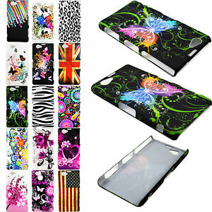 Colorful-Painted-Plastic-Hard-Cover-Case-Skin-Shell-For-Sony-Xperia-Mobile-Phone