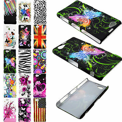 Colorful Painted Plastic Hard Cover Case Skin Shell For Sony Xperia Mobile Phone