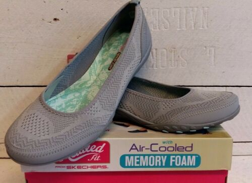 On Skechers Ladies Easy Slip 23039 Shoes Grey Sympth Breath 0drwqd