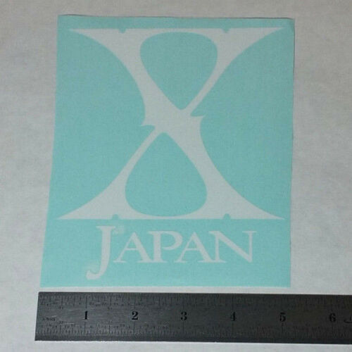 X JAPAN Vinyl DECAL STICKER BLK//WHT//RD Heavy Power Metal BAND Logo Guitar Window