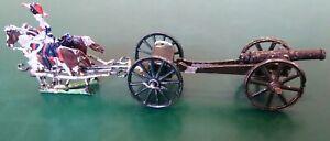 Vintage-FLATS-Zinnfiguren-Toy-Soldiers-30mm-British-19th-Century-Gun-Limber