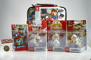 Ultimate-Kit-Super-Mario-Odyssey-Game-Amiibo-Wedding-3-Set-Case-Cappy-NEW