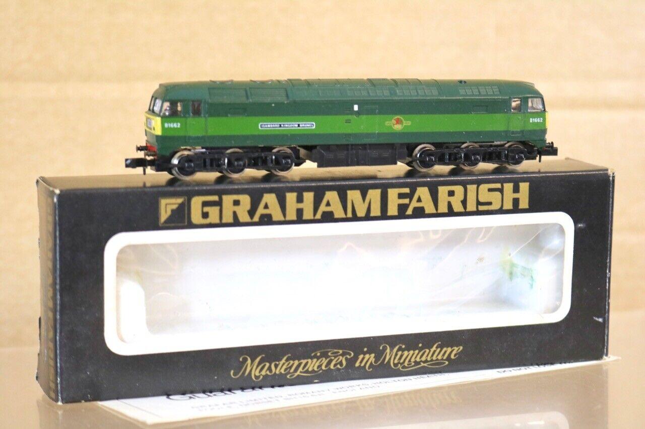 GRAHAM FARISH 8004 BR verde classe 47 LOCO D1662 ISAMBARD reDOM BcorrereEL nr
