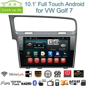 autoradio golf 7 navigatore gps 10 pollici android 7 1 wi fi 4g 2gb ram hdmi xt ebay. Black Bedroom Furniture Sets. Home Design Ideas