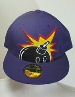 Era Big Bomb 59fifty Fitted Cap Hat Purple 7 3/8 Purple Big Bomb
