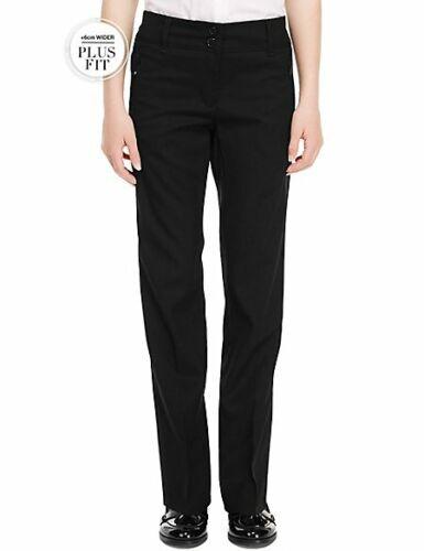M/&S SCUOLA Plus Fit Ragazze PIEGA resistente tasca con zip Pantaloni Con Stormwear ™
