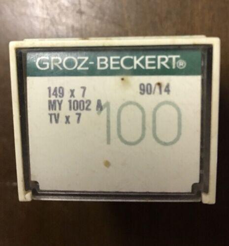 100 GROZ-BECKERT INDUSTRIAL SEWING MACHINE NEEDLES 149X7 SIZE 90//14