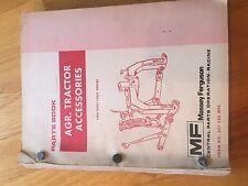 Massey Ferguson Tractor Parts Book Catalog Manual Combine Agr Accessories 1979