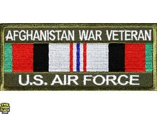 Afghanistan War Veteran US Air Force Iron On Patch 4x1.75 inch Free Shipping
