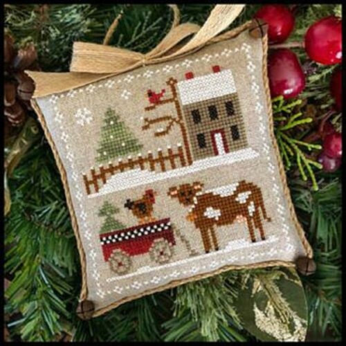 "Farm House Christmas Chart /""Dairy Darlin/"" #4 Little House Needleworks New"