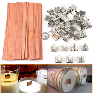 40Pcs-12-5x150mm-Wooden-Wick-Candle-Core-Sustainers-Tab-DIY-Candle-Making