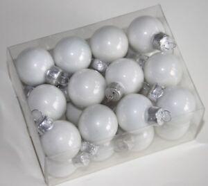 Christbaumkugeln Weiß Glas.Details Zu 24 Stk Christbaumkugeln Weiss Glas Weihnachtskugeln Christbaumschmuck Glaskugeln