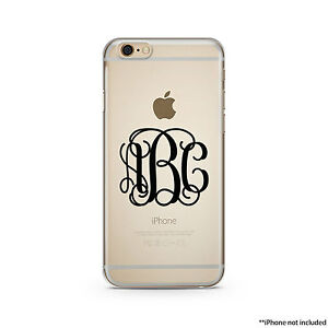 online store 2d28a 57a49 Details about Black Monogram Clear Case For iPhone 6s Plus and All iPhones