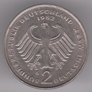 Germany  Federal Republic 2 Mark 1982 G CopperNickel Coin  Kurt Schumacher - <span itemprop='availableAtOrFrom'>Dukinfield, Cheshire, United Kingdom</span> - Germany  Federal Republic 2 Mark 1982 G CopperNickel Coin  Kurt Schumacher - Dukinfield, Cheshire, United Kingdom