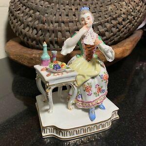 Meissen-Porcelain-5-1-4-034-Taste-Figurine-5-Senses-Germany-Woman-Eating-Excellent