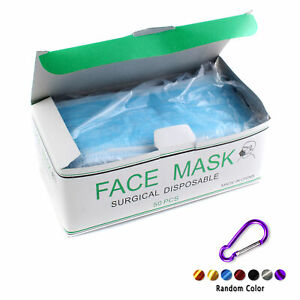 Details Flu Medical Earloop About box carabine 50 Dust Disposable Cleaning Face Surgical Mask