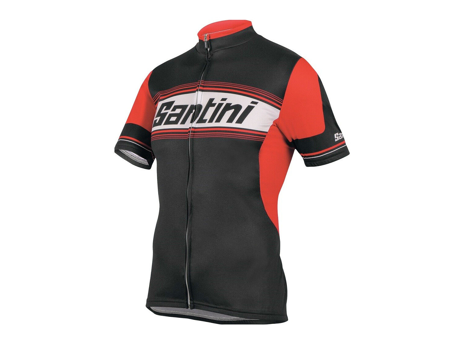 TAU Lightweight Cycling Jersey in Red. Made in  by Santini