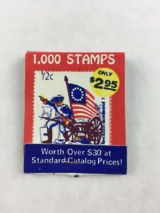 Vintage-1000-Stamps-Mail-in-Promotional-Matchbook-Only