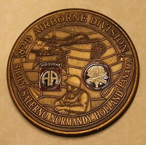 Details about 82nd Airborne Division Command Sergeant Major Army Challenge  Coin
