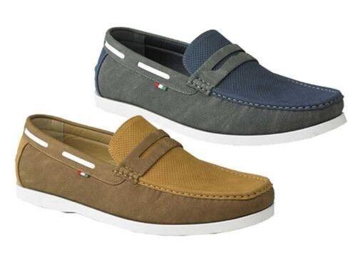D555 Herren Slipper Stiefel Schuhe mit Perforation Details