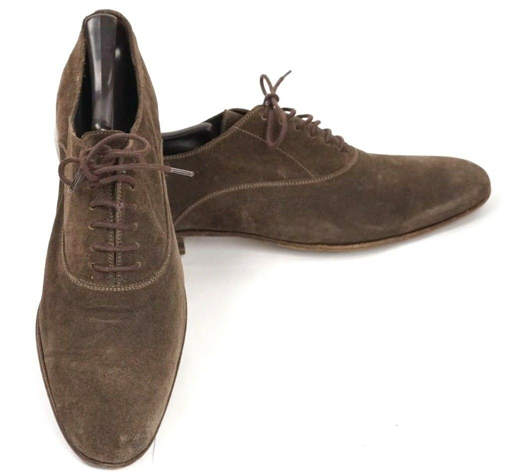 Sergio Rossi Men's Brown Suede Oxfords shoes Size US 8 Euro 40