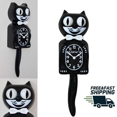 15.5″ high Classic Black Kit-Cat Klock