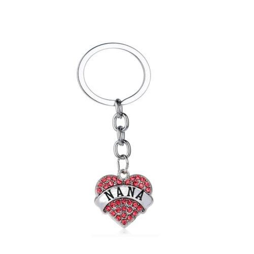Pink Keyring Gifts For Mom Sister Best Friends Heart Women Pendants Keychain