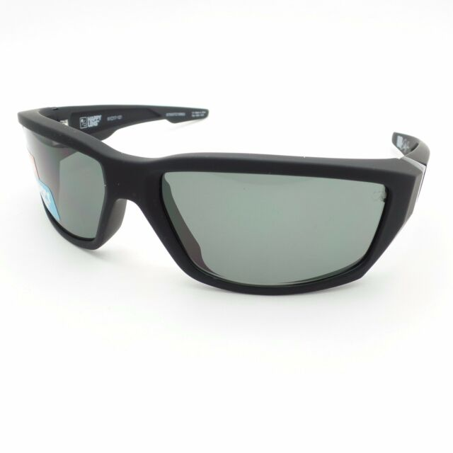 9e552ba854 Spy Optics Dirty Mo Soft Matte Black Happy Grey Green Authentic New  Sunglasses