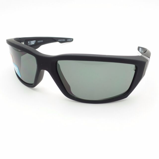 3fd110cfc1 Spy Optics Dirty Mo Soft Matte Black Happy Grey Green Authentic New  Sunglasses