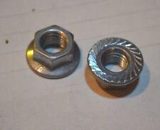 m10 x 1.5mm Top Lock Nut, flanged, serrated, locking hex nut, Qty. 50