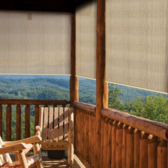 Outdoor Porch Shades Window Roll Up