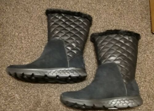 Suede Skechers Boot Mid Uk 5 Snuggly Go Size Top On New The O0wqIxOr